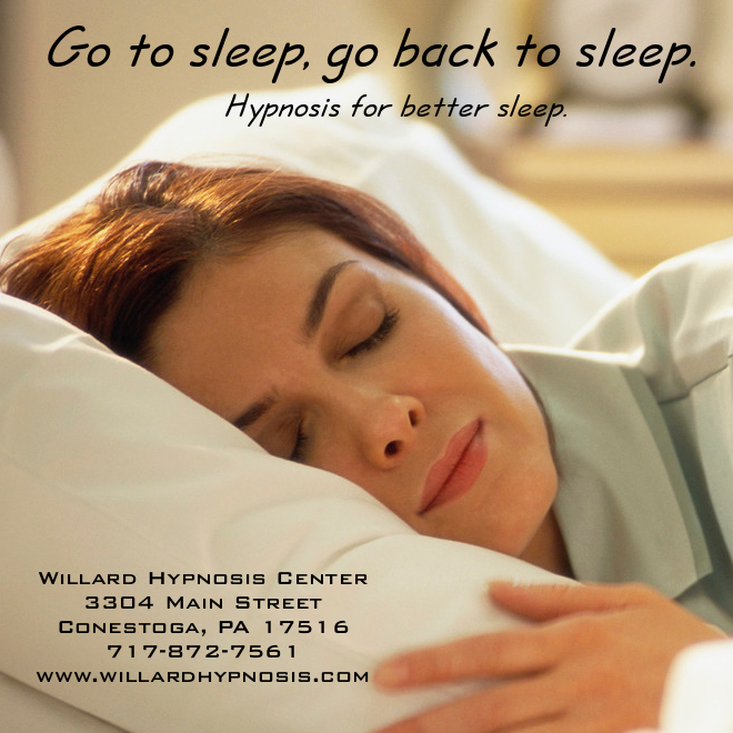 Better sleep with hypnosis.
